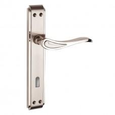 Ruby Zinc Backplate Door Handle